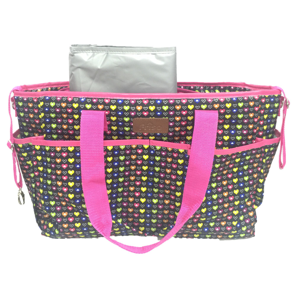 ECDB002 Wholesale Stylish Large Tote Baby Changing Pad Diaper Bag