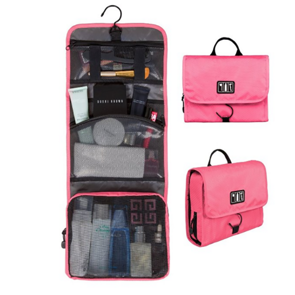 Foldable makeup organizer travel cosmetic bags