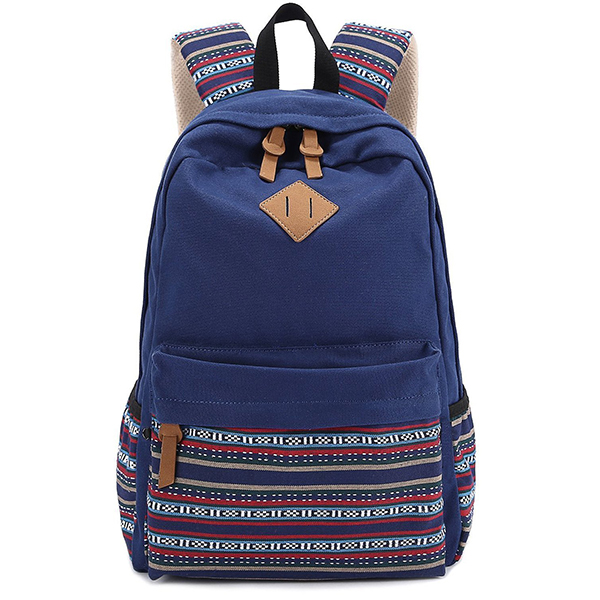 Fashionable Canvas Bohemia Boho Style Backpack School College Laptop Bag