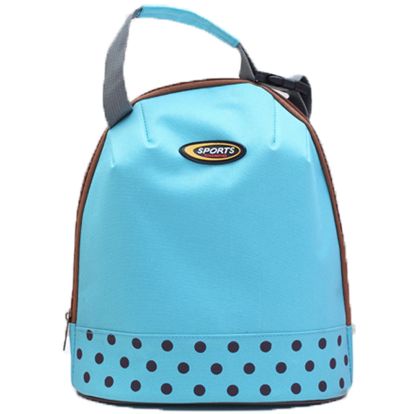 Portable Handle Polka Dot Lunch Cooler Bag Supplier