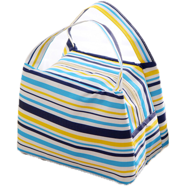 Color stripe lunch cooler tote bag manufacturer